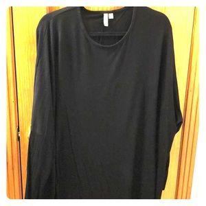 ASOS Sz 18 Shirt Dress - Black - Round Hem